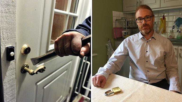 Christofer Lendel fick inbrott i sitt källarförråd.