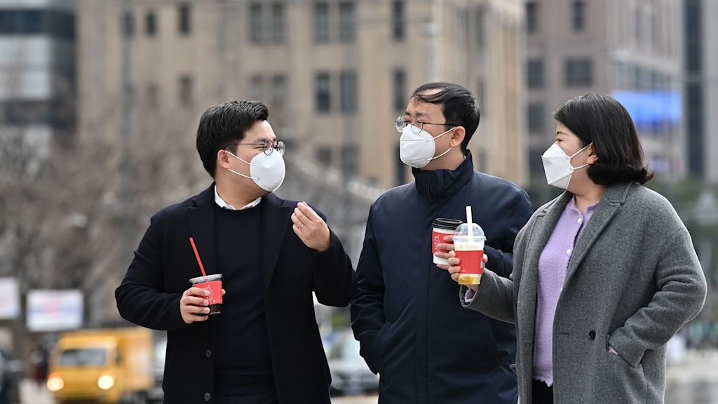 Folk i Sydkorea.
