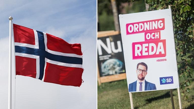 Sverigedemokraterna, SD, Norge, val
