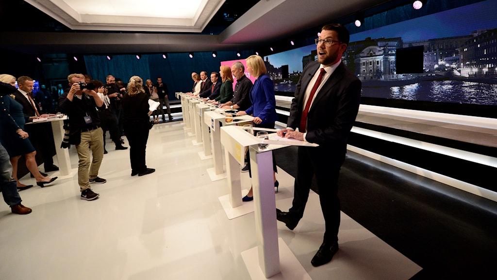 Jimmie Åkesson partiledardebatt