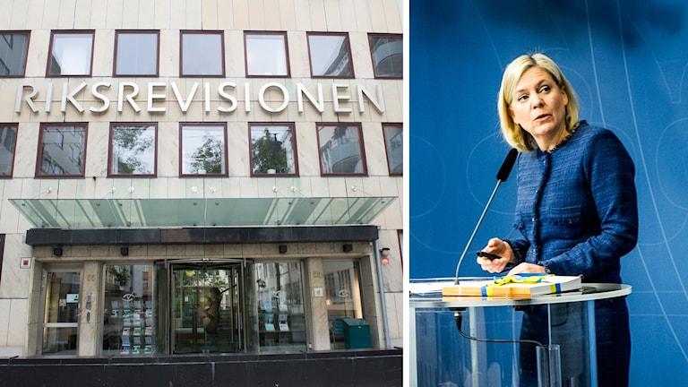 Riksrevisionen och Magdalena Andersson