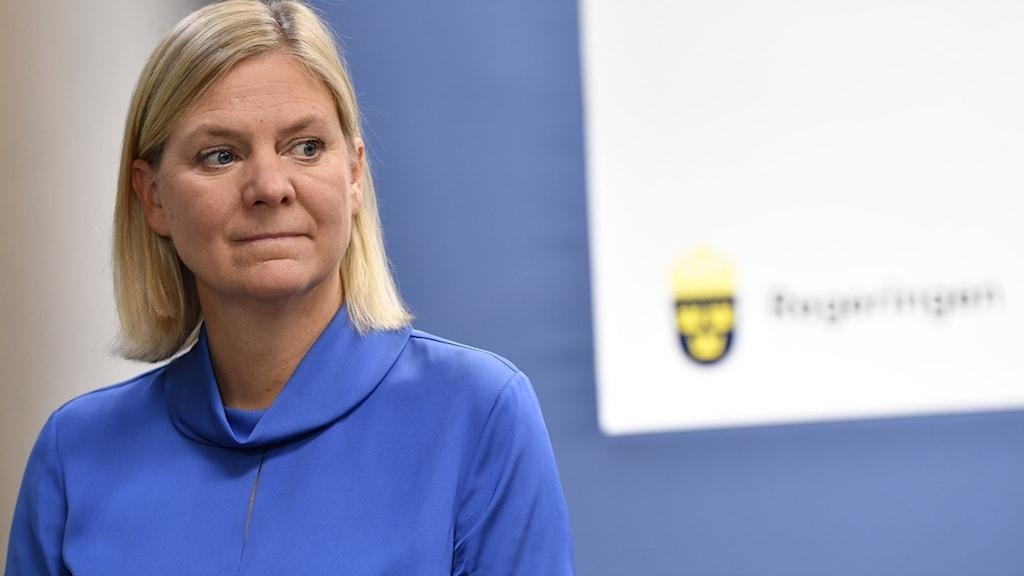 Sveriges finansminister Magdalena Andersson