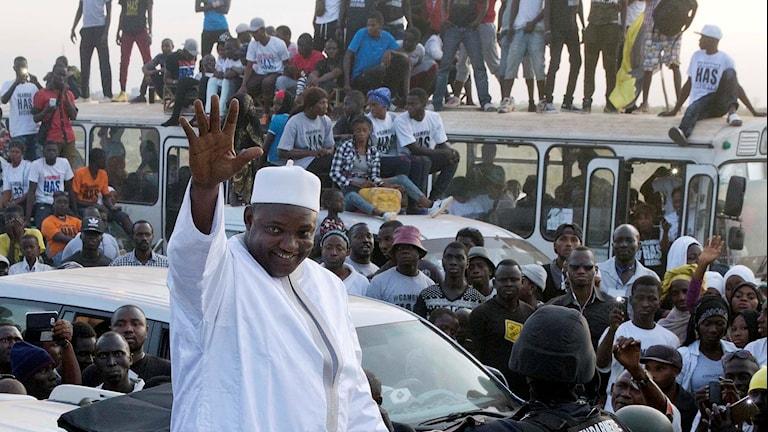 Gambias nye president Adama Barrow.