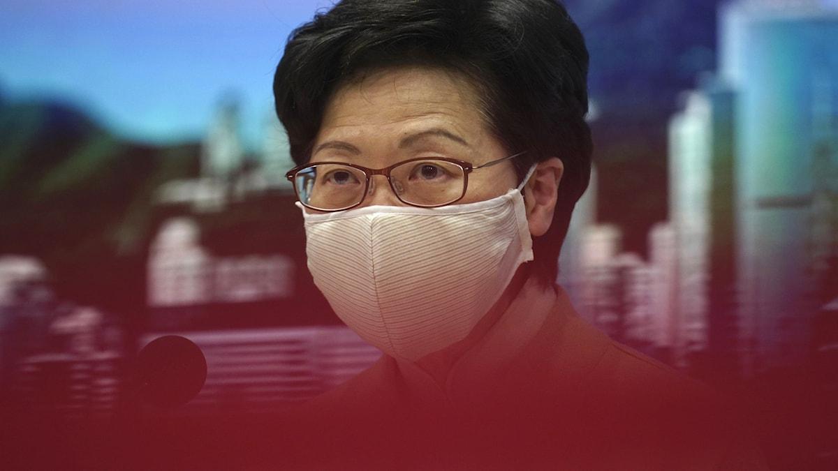 Hongkongs ledare Carrie Lam