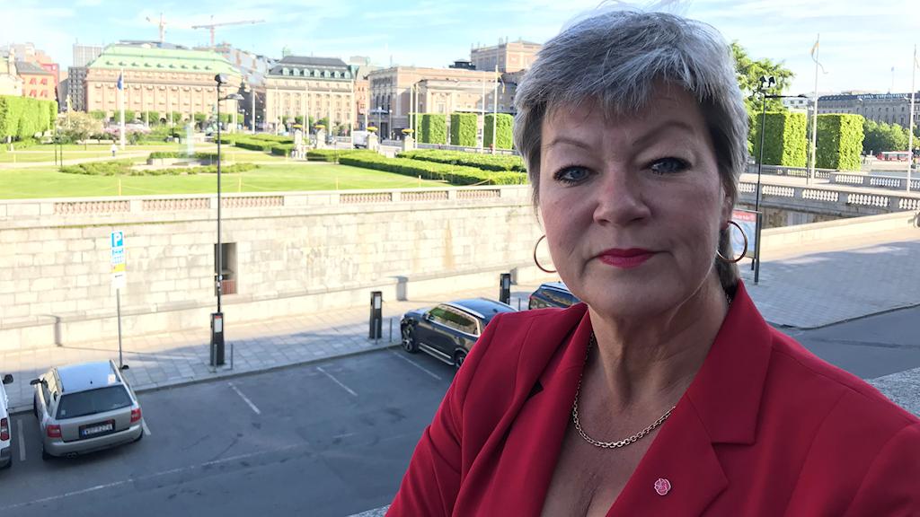 Ylva Johansson. Foto: Anders Jelmin/Sveriges Radio
