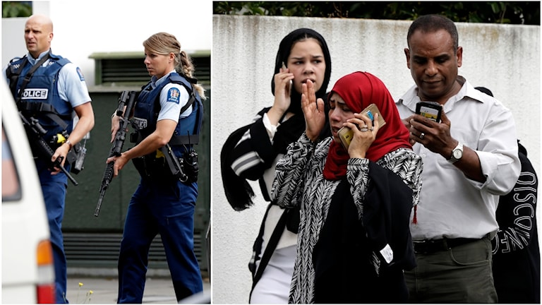 Terrordådet i Christchurch Nya Zeeland.