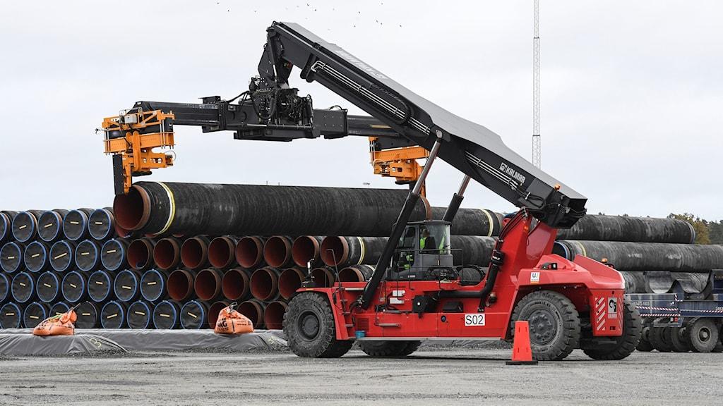 Arbetet med Nord Stream når svensk ekonomisk zon