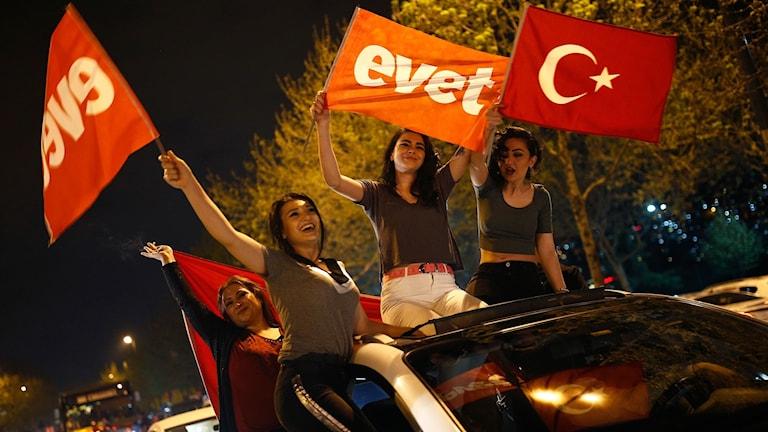 Stödet för Erdogan var inte överallt lika stor