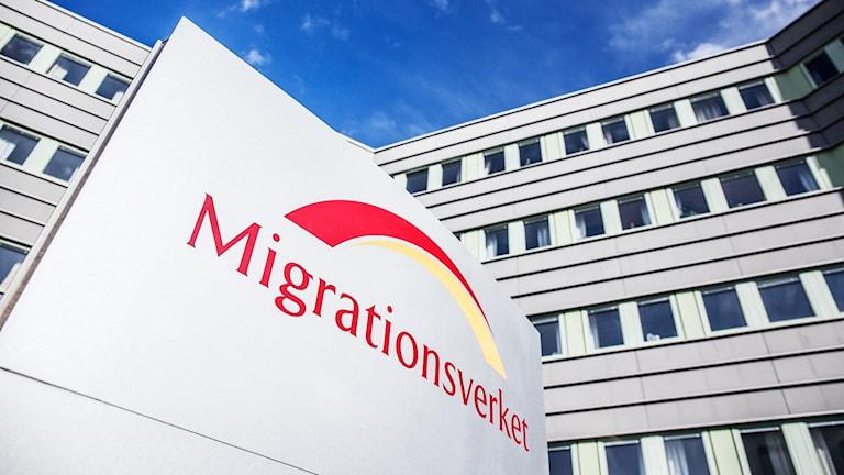 Skylt där det står Migrationsverket