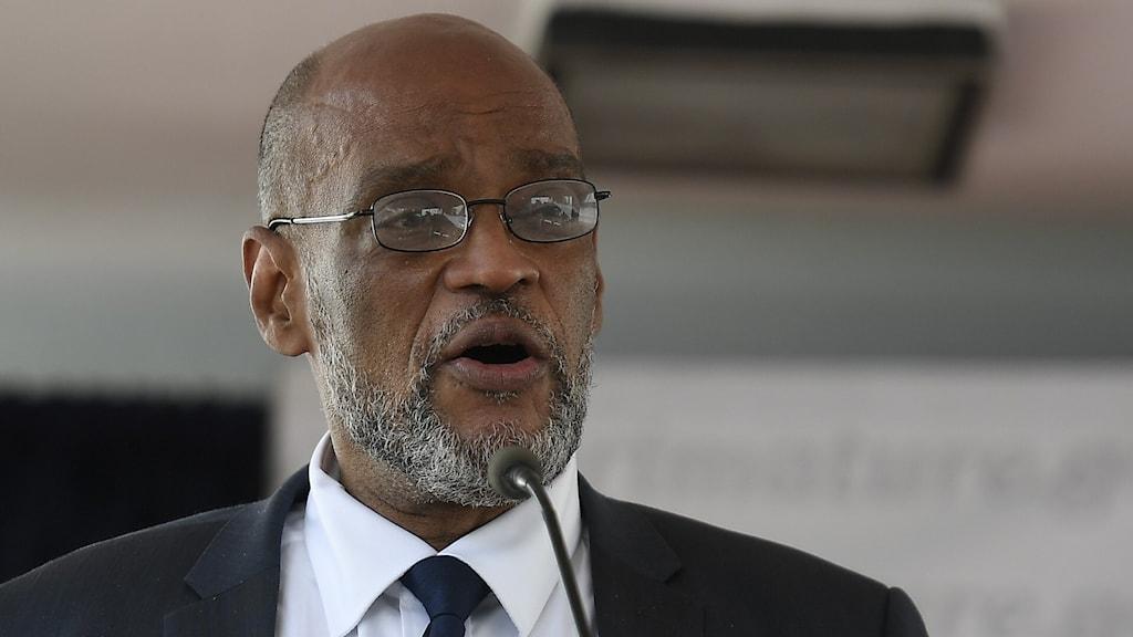 Haitis tillförordnade premiärminister Ariel Henry.