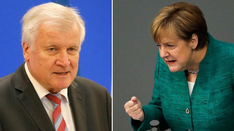 Horst Seehofer och Angela Merkel