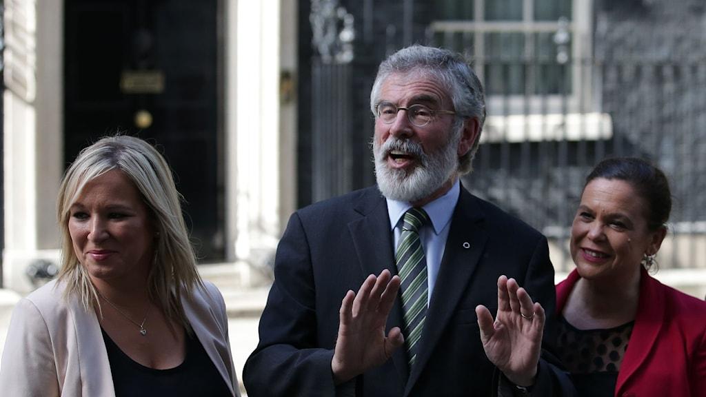 Michelle O'Neill, Gerry Adams, Mary Lou McDonald