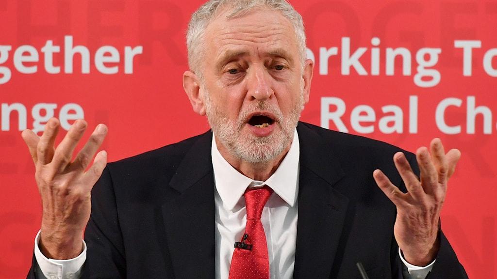 ledaren för oppositionspartiet Labour Jeremy Corbyn