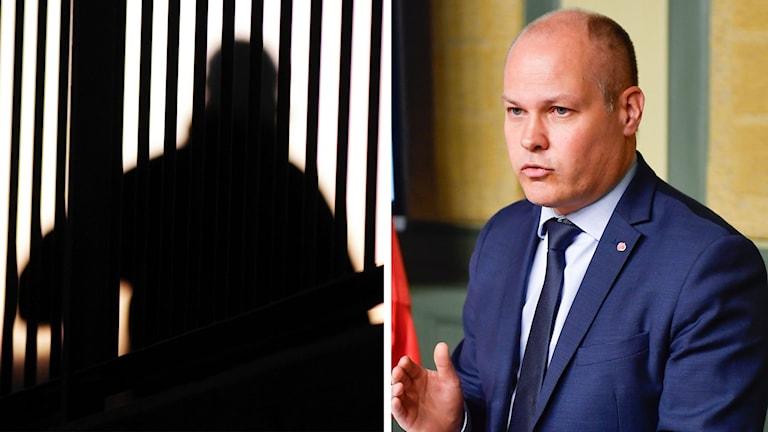 Split skugga och Morgan Johanssona