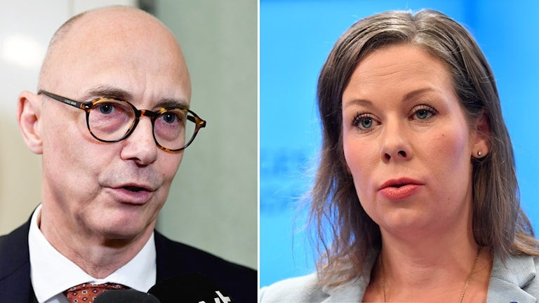 Socialdemokraternas ledamot i migrationskommittén Rikard Larsson och Moderaternas migrationspolitiska talesperson Maria Malmer Stenergard.
