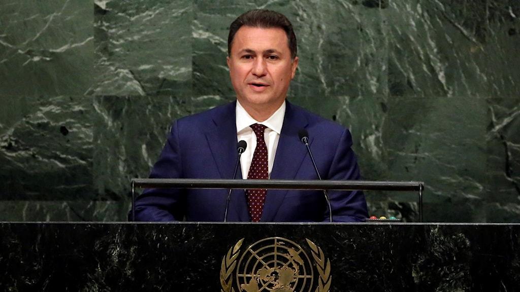 Förre premiärministern Nikola Gruevski.