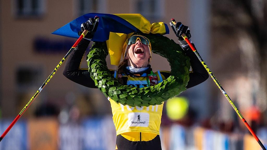 Lina Korsgren vann Vasaloppet för tredje gången i karriären.