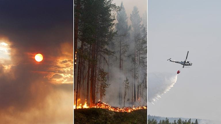 Brand eld ljusdal helikopter bränder