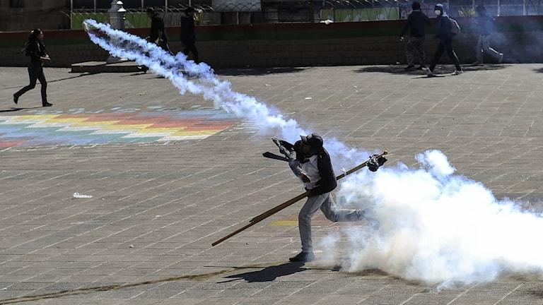 Demonstrationer i La Paz på torsdagen.