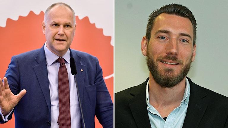 Jonas Sjöstedt och Mikael Ekvall