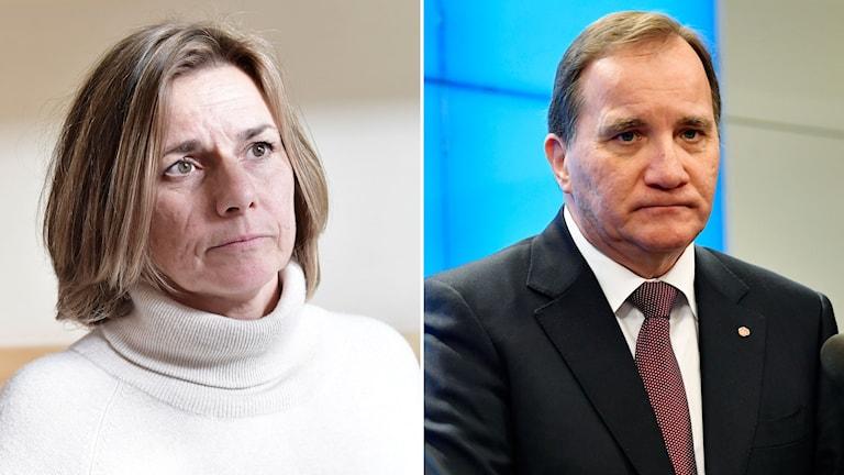 Isabella Lövin och Stefan Löfven