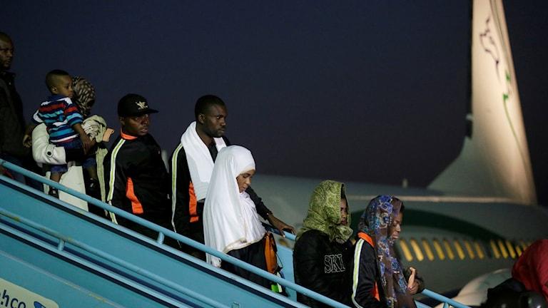 Personer återvänder från läger i Libyen till Nigeria.
