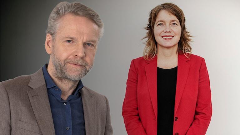 Kollage av Tomas Ramberg och Malin Björk (V).
