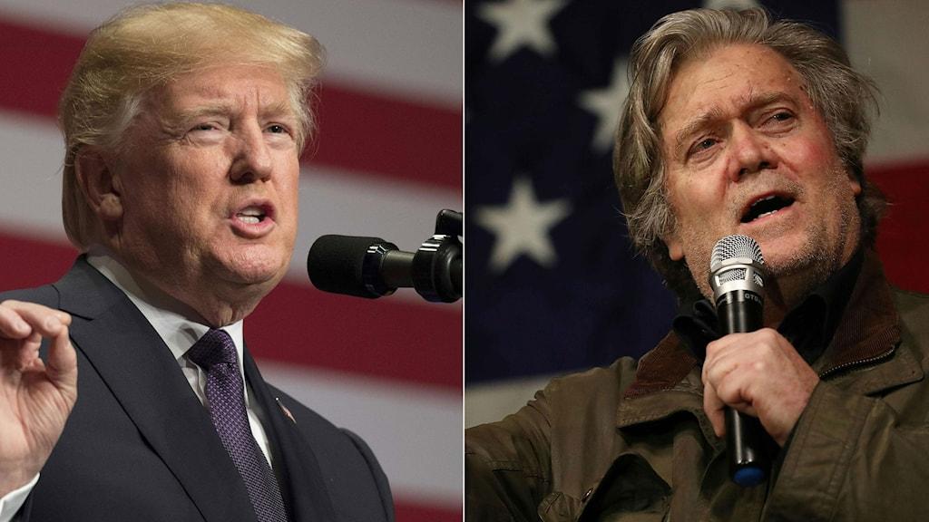 Donald Trump och Steve Bannon.
