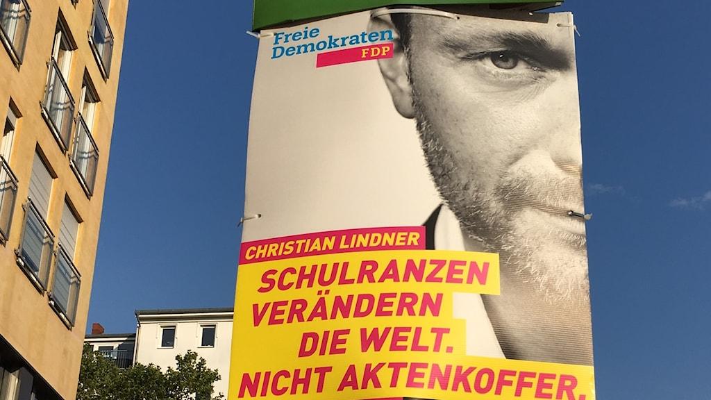 FDP-affisch inför tyska valet.