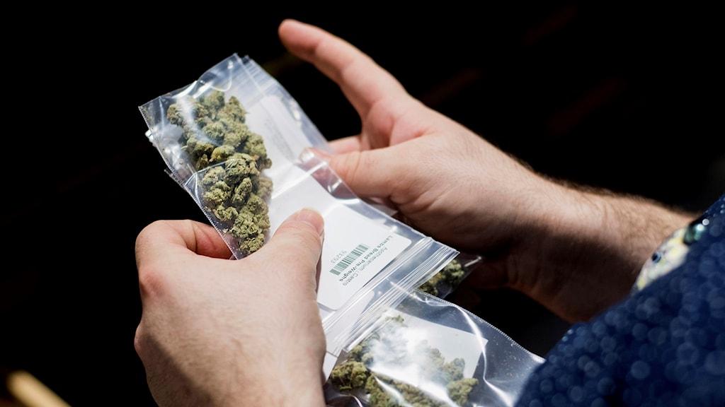 En påse av narkotika.