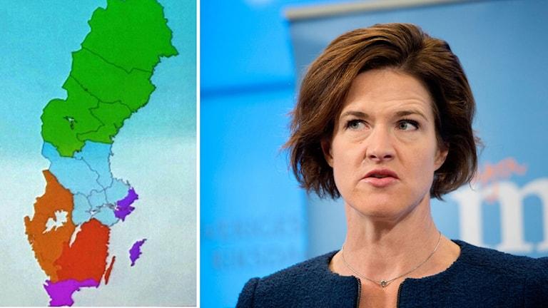 Anna Kinberg Batra om de planerade storregioner.