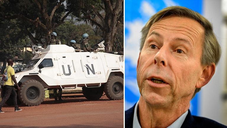 Delad bild: FN-styrka i Centralafrikanska republiken samt Anders Kompass.