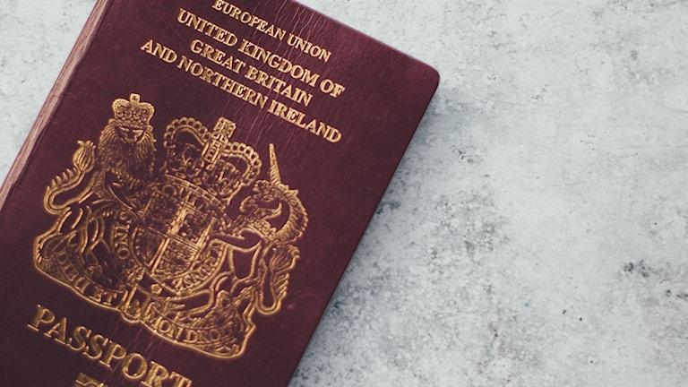 Brittiskt pass.