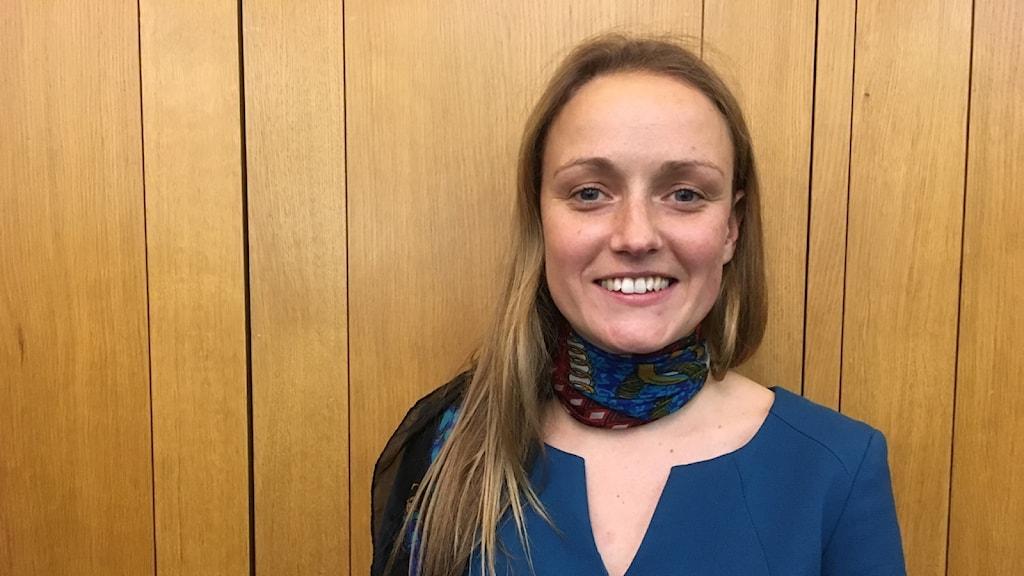Charlotte Ramsay på National Grid tycker att övergången till förnybar el går fort i Storbritannien
