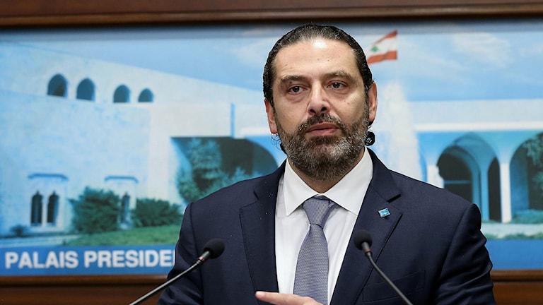 Libanons avgående premiärminister Saad Hariri