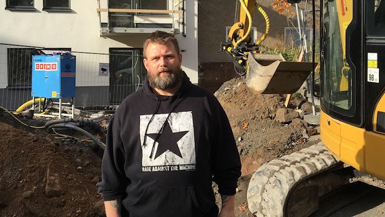 Fredrik Gustafsson, sjukskriven snickare från Huddinge. Foto: Dave Russell/Sveriges Radio