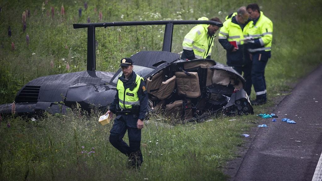 Bild från kraschen i Norge.