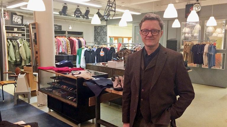 Börje Persson, butiksägare i centrala Stockholm
