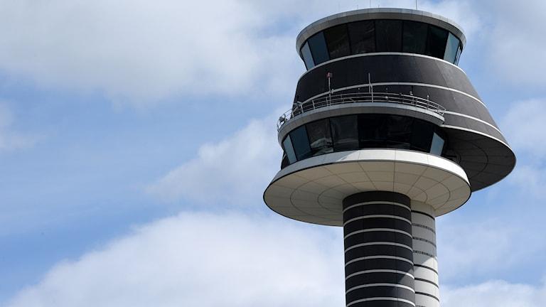 Flygledningstornet på Arlanda flygplats.
