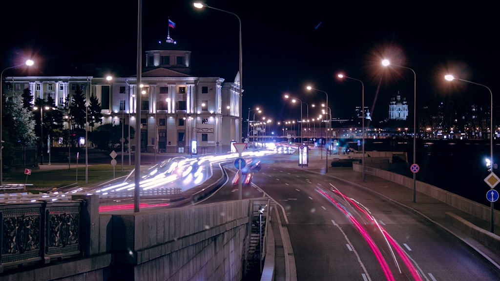 En gata i Sankt Petersburg.