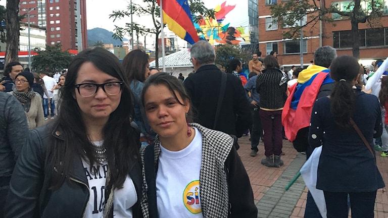 Eliana Riaño och Miller Cabanzo röstade ja till fredsavtalet.
