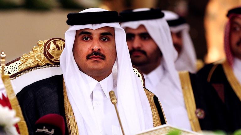 Qatars premiärminister Emir Sheikh Tamim bin Hamad Al-Thani