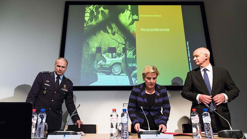 Presskonferens Nederländerna.