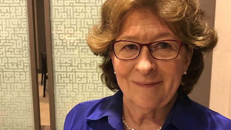 Louise Arbour,FN:s särskilda representant för migration. Foto: Alice Petén/Sveriges Radio.