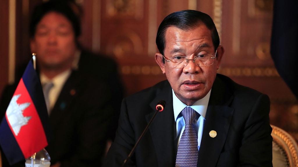 Kambodjas premiärminister Hun Sen.