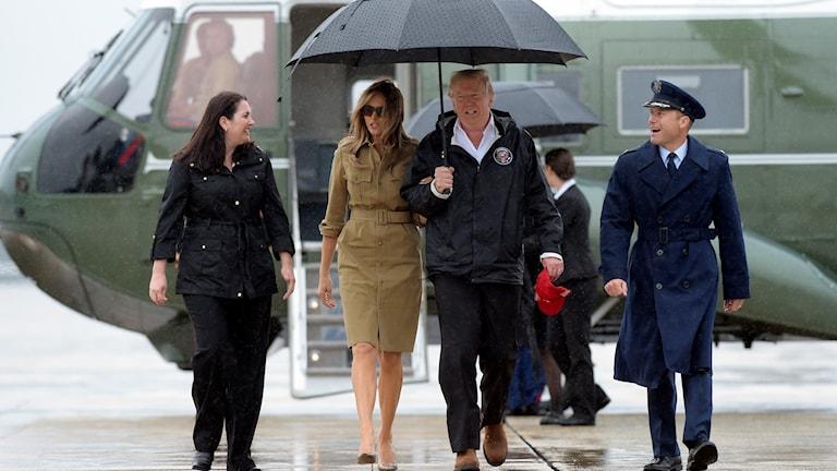 Donald och och Melania Trump