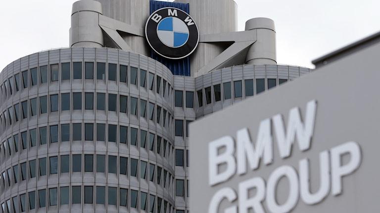 BMW:s högkvarter i München i Tyskland.