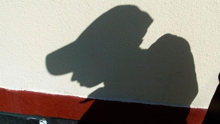 Siluett mot en vägg. Foto: Scanpix.