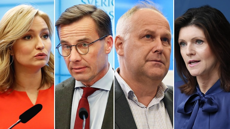 Ebba Bush Thor, Kristersson, Sjöstedt och Nordmark.