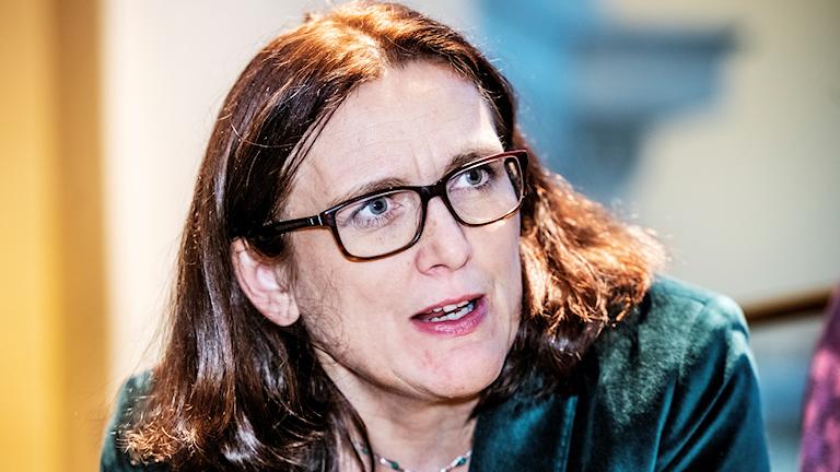 Närbild på Cecilia Malmström.